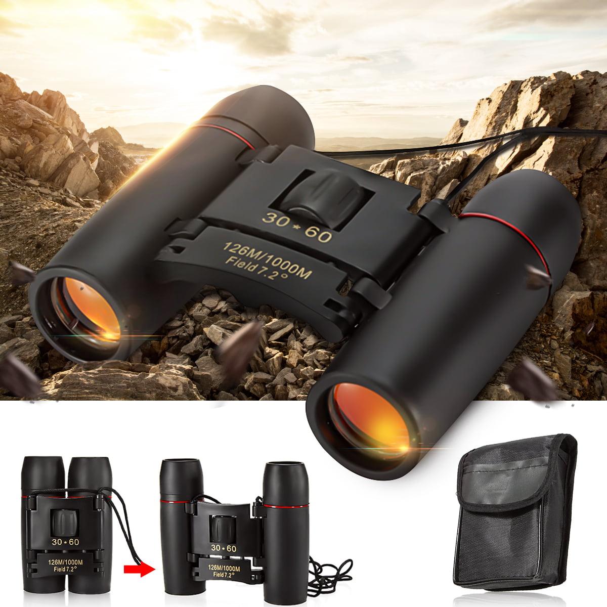 Day And Night Vision 30x60 126m/1000m Folding Binoculars Telescope w/ Strip&Bag For Hunting Camping Hiking Travel Bird Watching