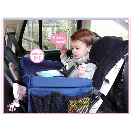 Baby Snack Tray - Kids Baby Car Seat Snack Toy Tray Baby Stroller On The Go Waterproof Food Table Travel Drawing Play