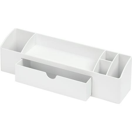 Med Opaque Box - InterDesign Med+ Storage Box Organizer, White