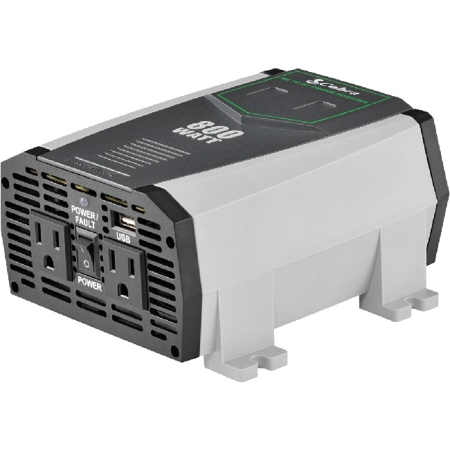 120V AC, 800 Watt, 2.1A USB, DC to AC power inverter, w/direct-to-battery cables - image 1 de 1