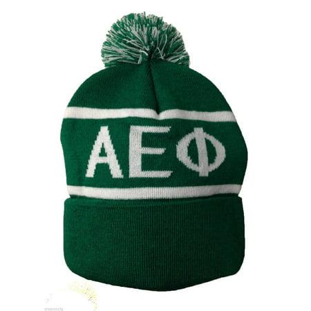 Alpha Epsilon Phi Knit Beanie Pom Winter Hat