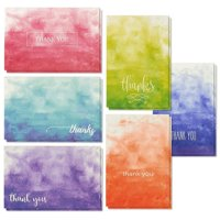48-Count Thank You Cards with Envelopes, Blank Note, 6 Ombre Watercolor Designs for Baby and Bridal Shower Graduation Wedding, 4 x 6 inches
