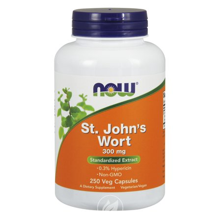 Now Foods St. John's Wort 250 Caps / 300 Mg , Pack of 2 250 Caps Now Foods