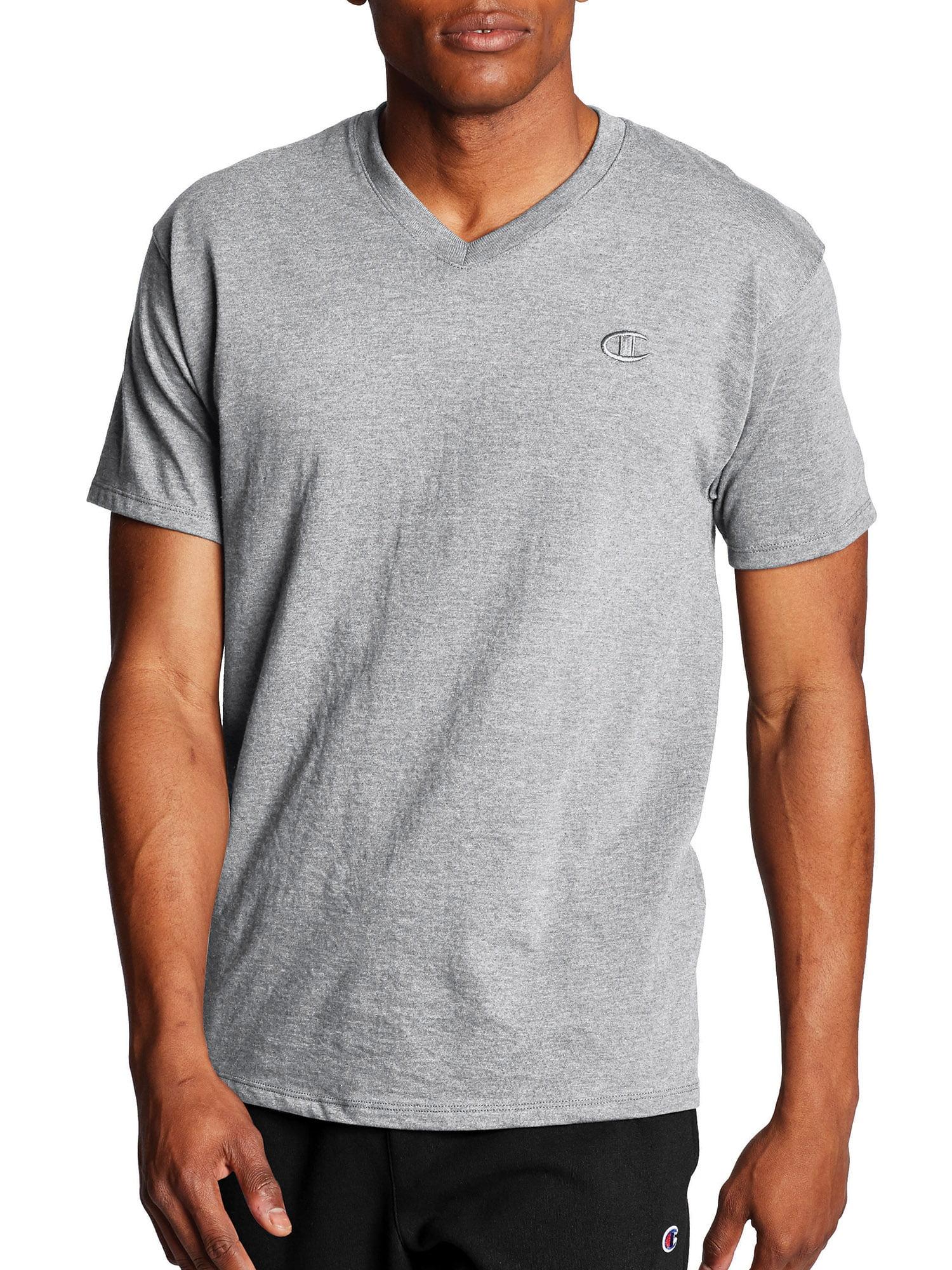 Champion Mens Classic Jersey V-Neck T-Shirt