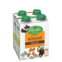 Pacific Foods Organic Almond Chocolate Milk Non-Dairy Chocolate Beverage, 8 oz, 4 Count