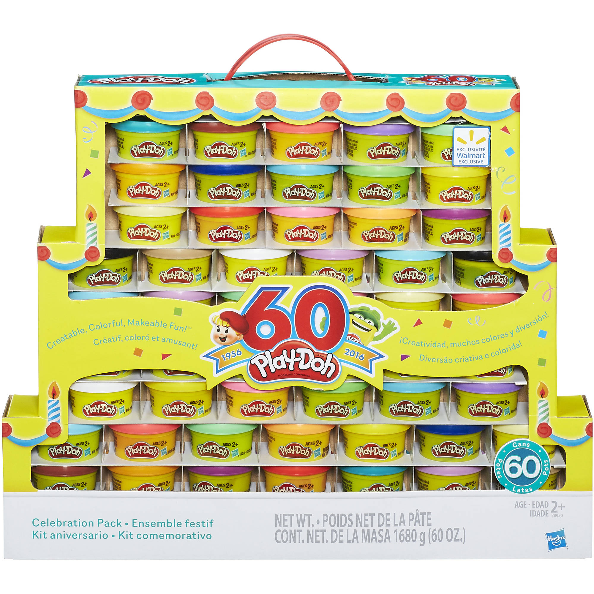 Play-Doh 60th Anniversary Celebration 60 Pack, 60 oz