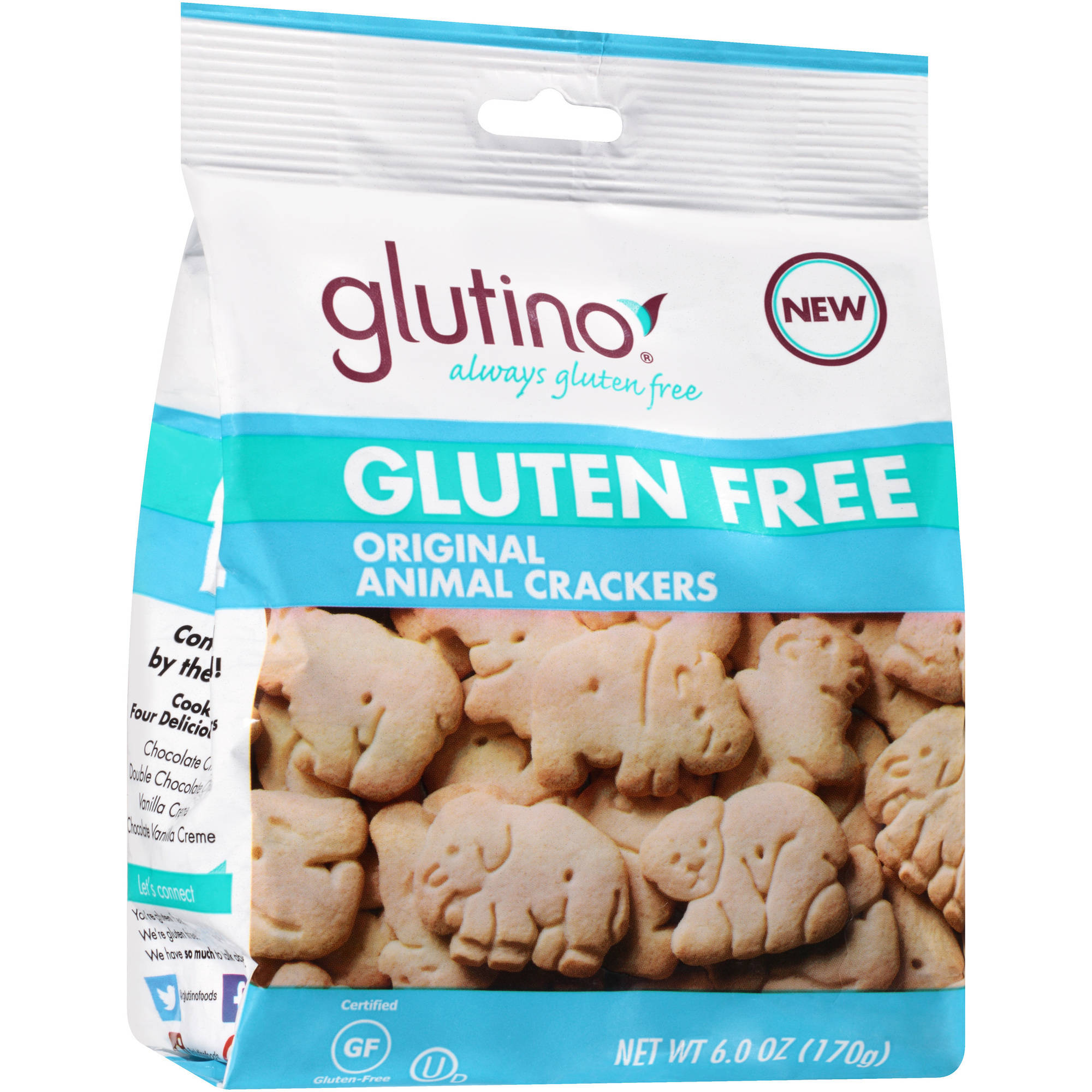 Glutino Gluten Free Original Animal Crackers, 6 oz