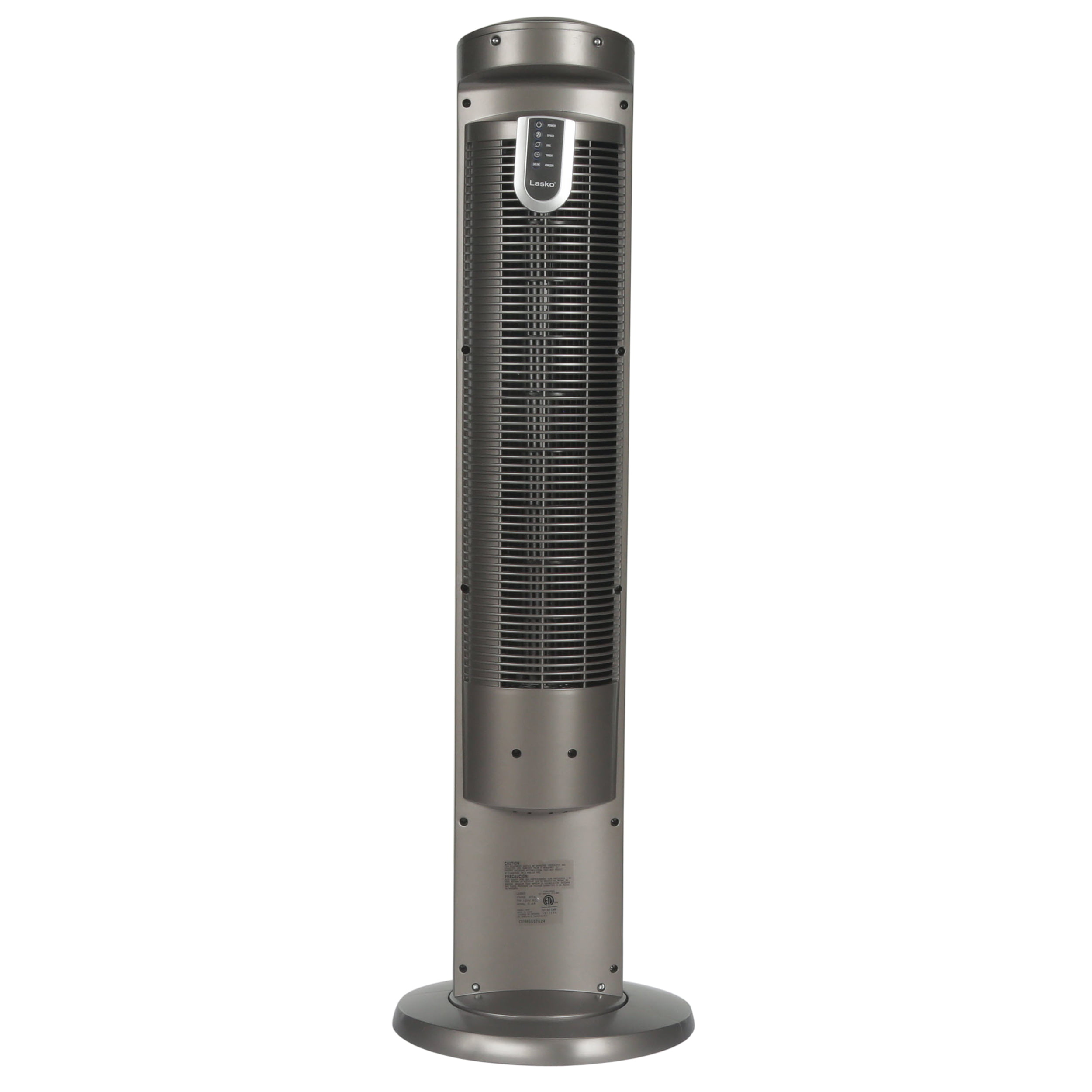 Lasko 42 Wind Curve 3 Speed Tower Fan With Fresh Air Ionizer Model Left Drivers Side Light Blue Positive Gray Negative 2554 Remote