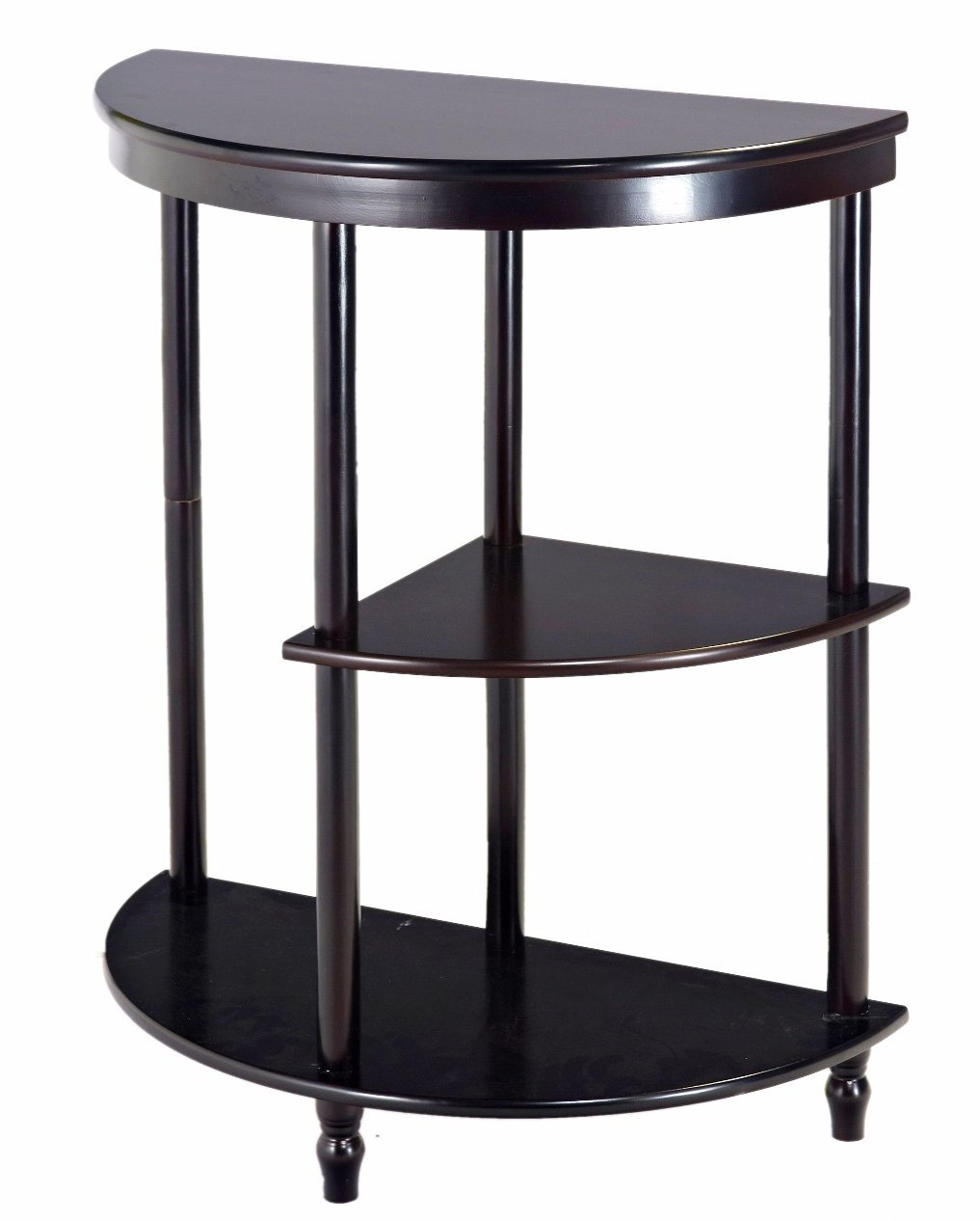 Exceptionnel Frenchi Furniture Cherry 3 Tier Crescent ,Half Moon ,Hall / Console Table/End  Table   Walmart.com