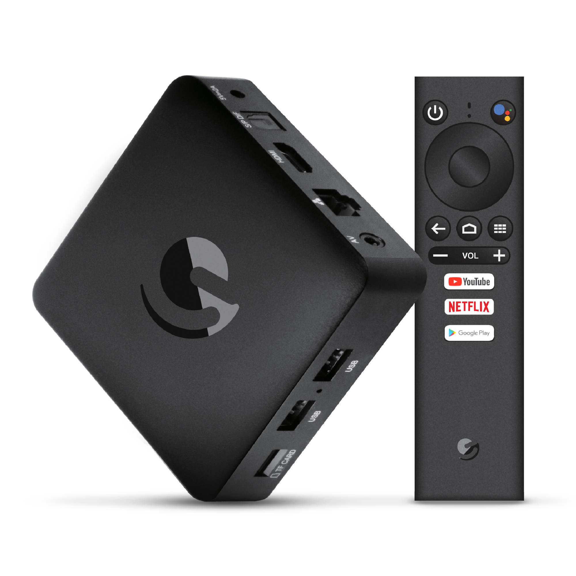 Jetstream 4K Ultra HD Android TV Box with Voice Search Remote - Compatible with Google Assistant