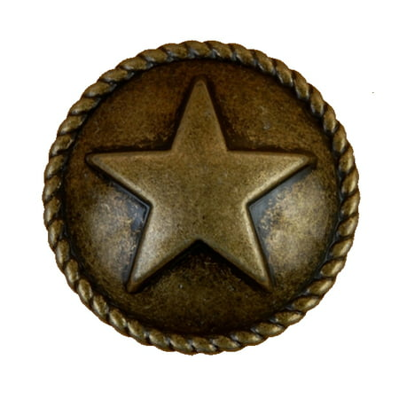 Star with Rope Drawer Cabinet Pull or - Star Drawer Pulls