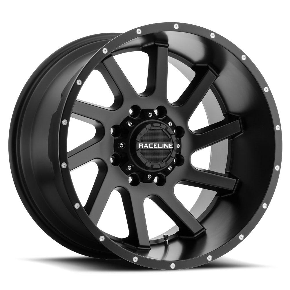 "20"" Inch Raceline 932B Twist 20x12 8x170 -44mm Satin Black Wheel Rim"