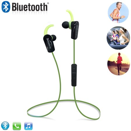 Beyution BT508S Bluetooth V4.1 Sport Headphones, Wireless Earbuds for Running Workout, Noise Cancelling Sweatproof Cordless Headset for Gym Use, Earphones w/Mic, iPhone Android Laptop PC (Blue)