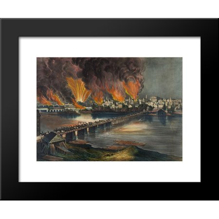 The Fall of Richmond, Va. on the Night of April 2d. 1865 20x24 Framed Art Print by Currier and Ives ()