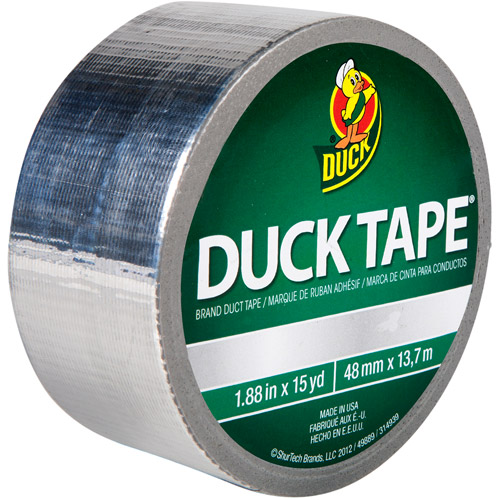 "Duck Brand Duct Tape, 1.88"" x 15 yard, Chrome"