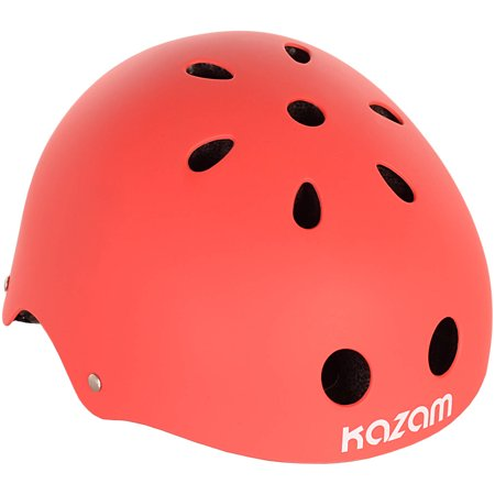 - KaZAM Child's XS, Multi-Sport Helmet, Red, For Ages 2 And Up