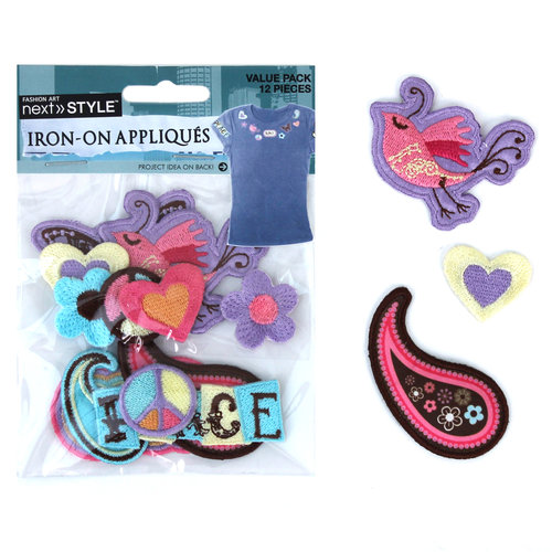 Next Style Applique Value Pack, Peace Love And Icons
