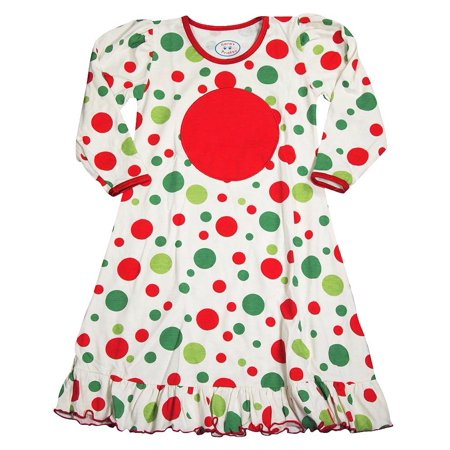 01be7e9502 SARA S PRINTS - Saras Prints Toddler Girls Long Sleeve Gown Holiday ...