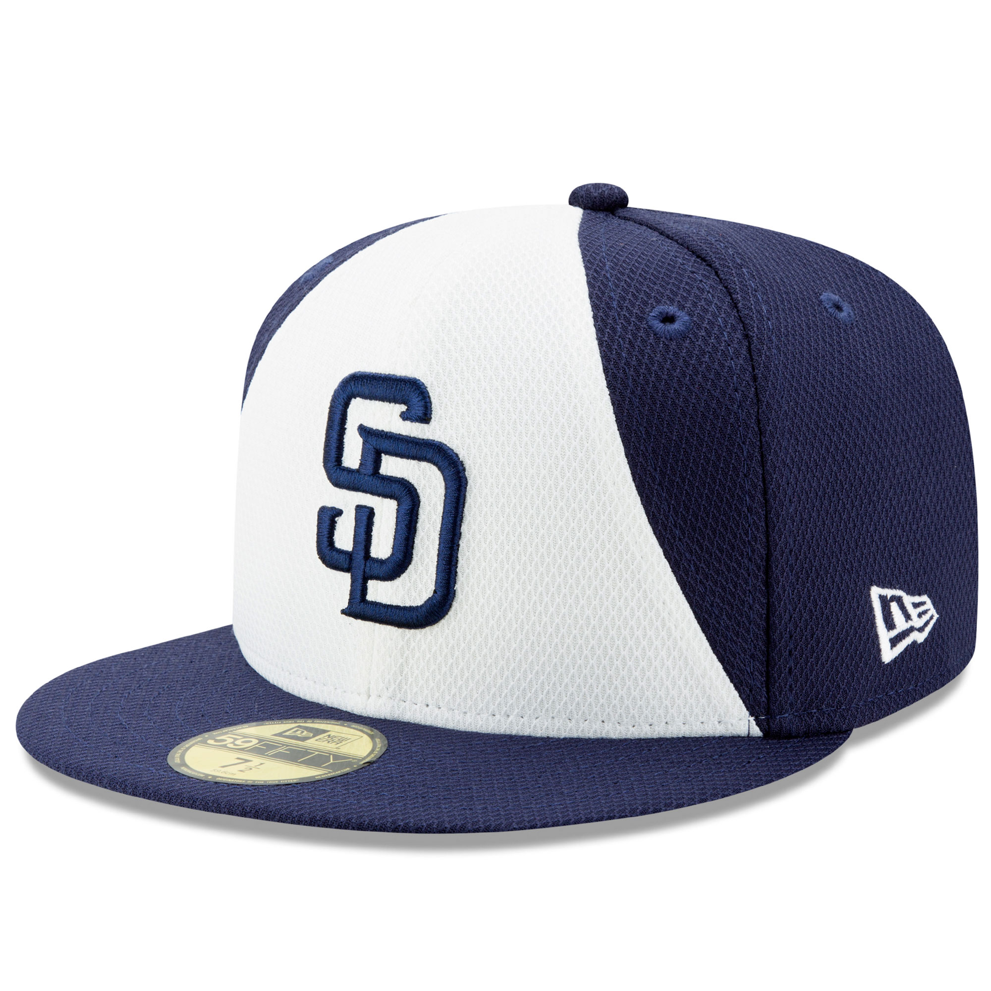 San Diego Padres New Era Diamond Era 59FIFTY Fitted Hat - White/Navy