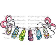 "Whipper Snapper Cling Stamp 4""X6""-Flip Flop Heaven"