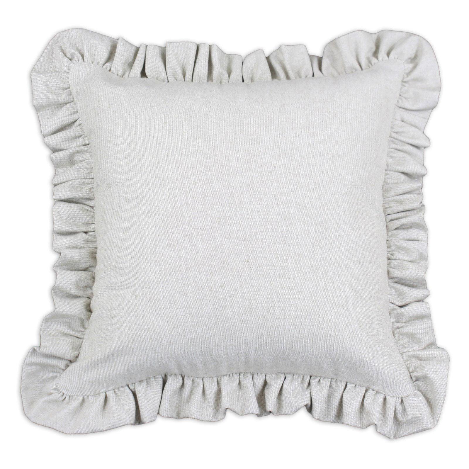 Brite Ideas Living Saxony Natural Ruffle D-Fiber Pillow