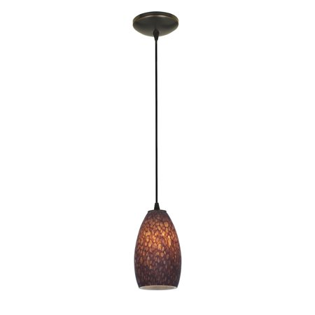 Brown Stone Outdoor Pendant (Access  Lighting Champagne Bronze Cord Pendant with Brown Stone Shade )