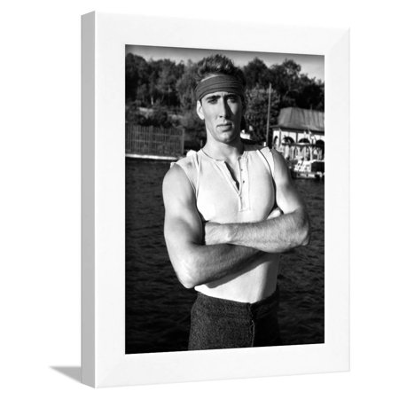 7ebf17ee29217 Nicolas Cage in Tank top Portrait With Headband Framed Print Wall Art By  Movie Star News - Walmart.com