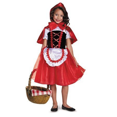 Girls Storybook Lil Red Riding Hood Costume (Halloween Makeup Little Red Riding Hood)