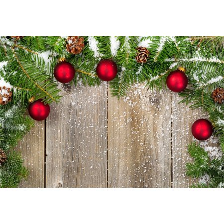 Greendecor Polyster 7x5ft Christmas Tree Backdrop Xmas Pine Branch