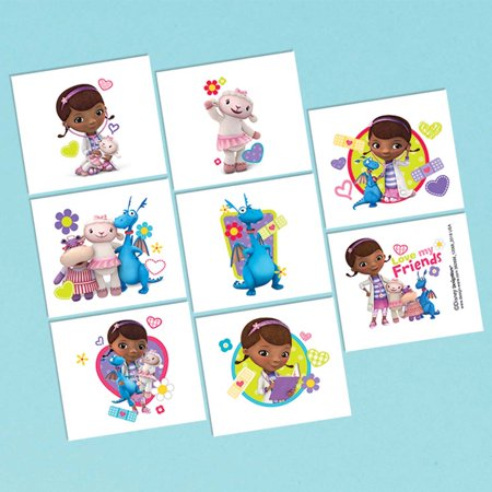 Doc McStuffins Tattoo Favors (16 Pack) - Party Supplies