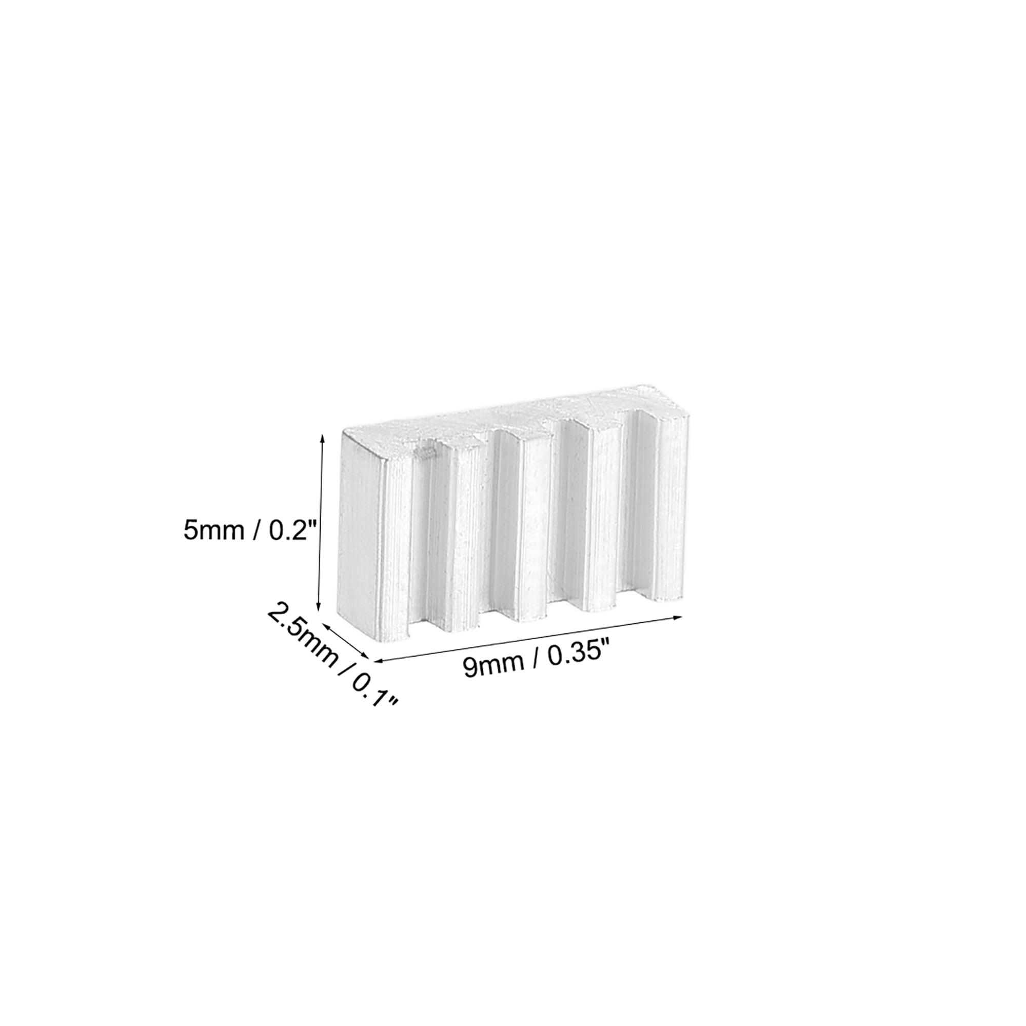 uxcell Parallel Notch Heatsink for Stepper Motor 3D Printer 40x40x11mm Silver 10pcs