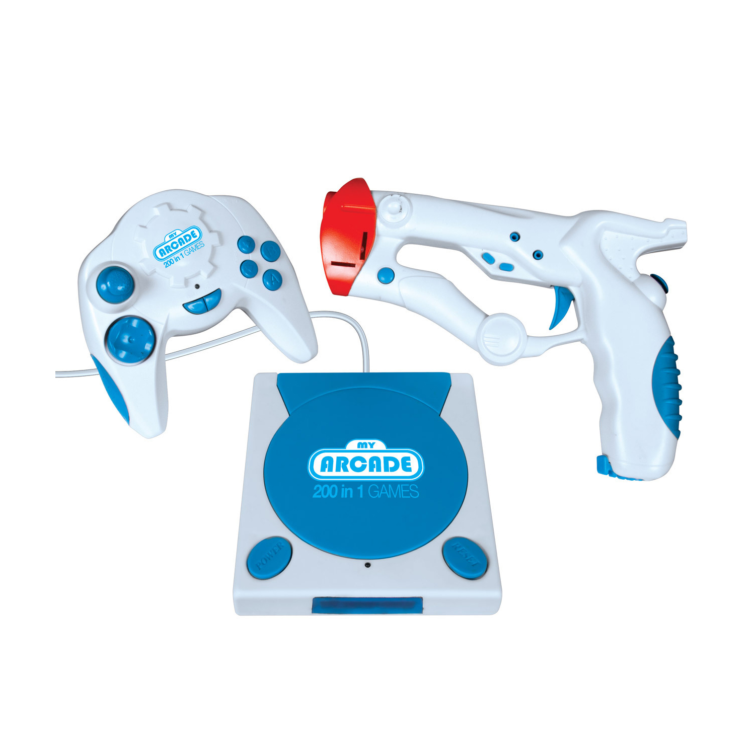 Dreamgear My Arcade Video Game Station with 200 Built-In Games, Blue, DRM2572