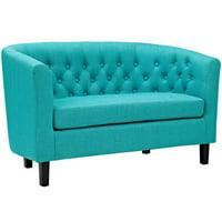 Modern Contemporary Urban Design Living Lounge Room Loveseat Sofa, Blue, Fabric