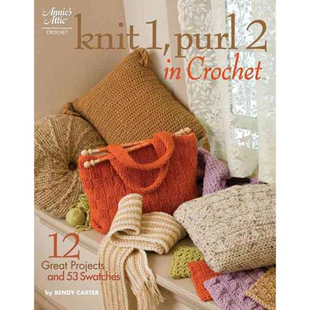 Knit 1, Purl 2 in Crochet