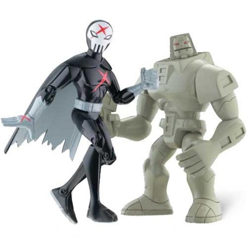 Teen Titans 3.5 Action Figure 2Pack Cinderblock Red X by