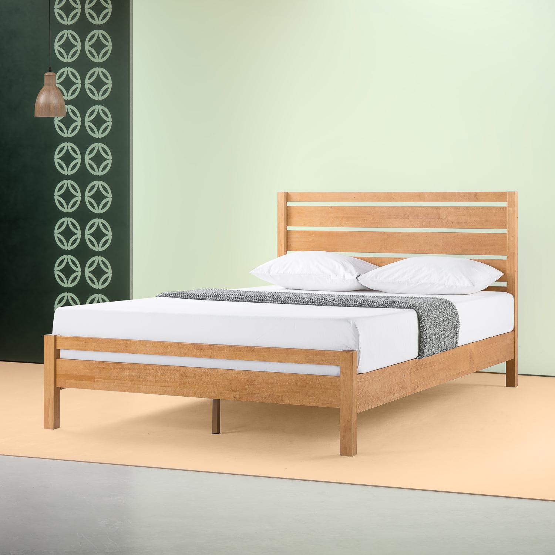 Zinus Aimee 41 Traditional Wood Platform Bed With Headboard Twin Walmart Com Walmart Com