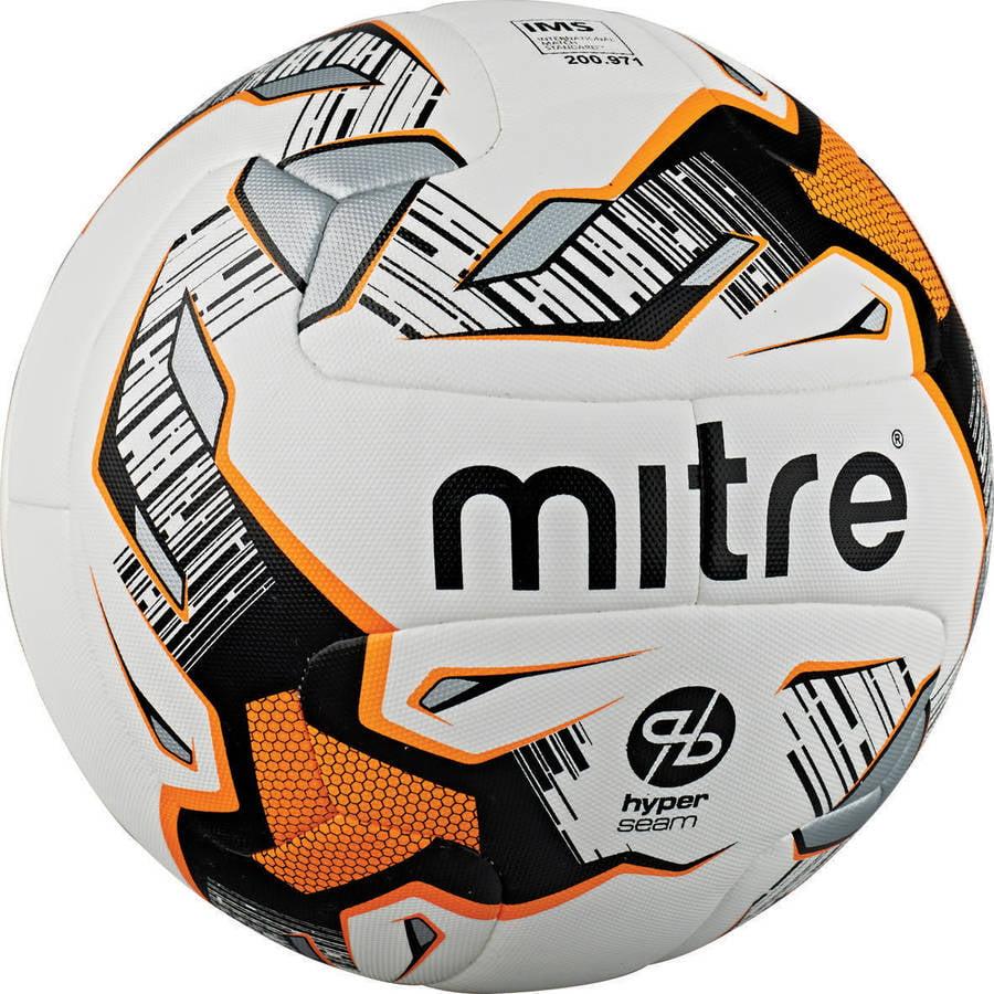 Mitre Ultimatch Hyperseam White/Orange/Black Soccer Ball