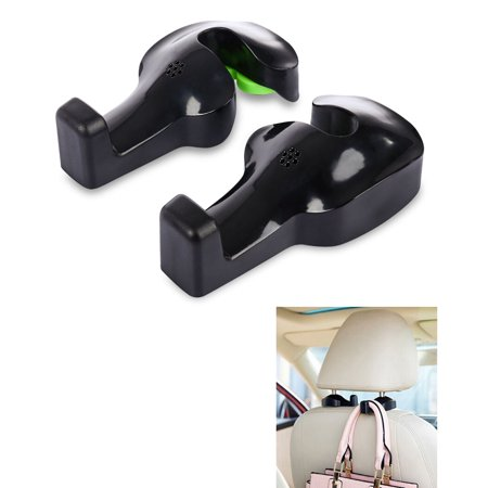 black vehicle car seat back headrest hanger holder hooks for handbags purses coats cloth and. Black Bedroom Furniture Sets. Home Design Ideas