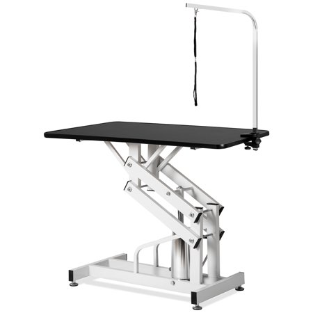 Dog Grooming Table Best Deal, 42.5'' x 23.6'' Foldable Z-Shaped Table with Adjustable Grooming Arm & Noose, Heavy Duty Steel Frame with Ribbed Rubber Surfaced for Dogs Cats, Capacity 220lbs, (Best Surface For Dog Run)