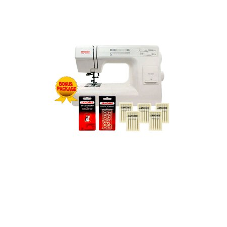 Janome HD3000 Mechanical Sewing Machine Bundle with 5 Piece Bonus Package