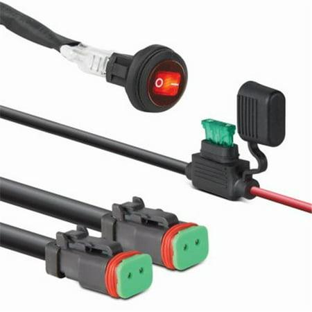 pilot automotive 243184 double led light bar wiring harness - walmart com