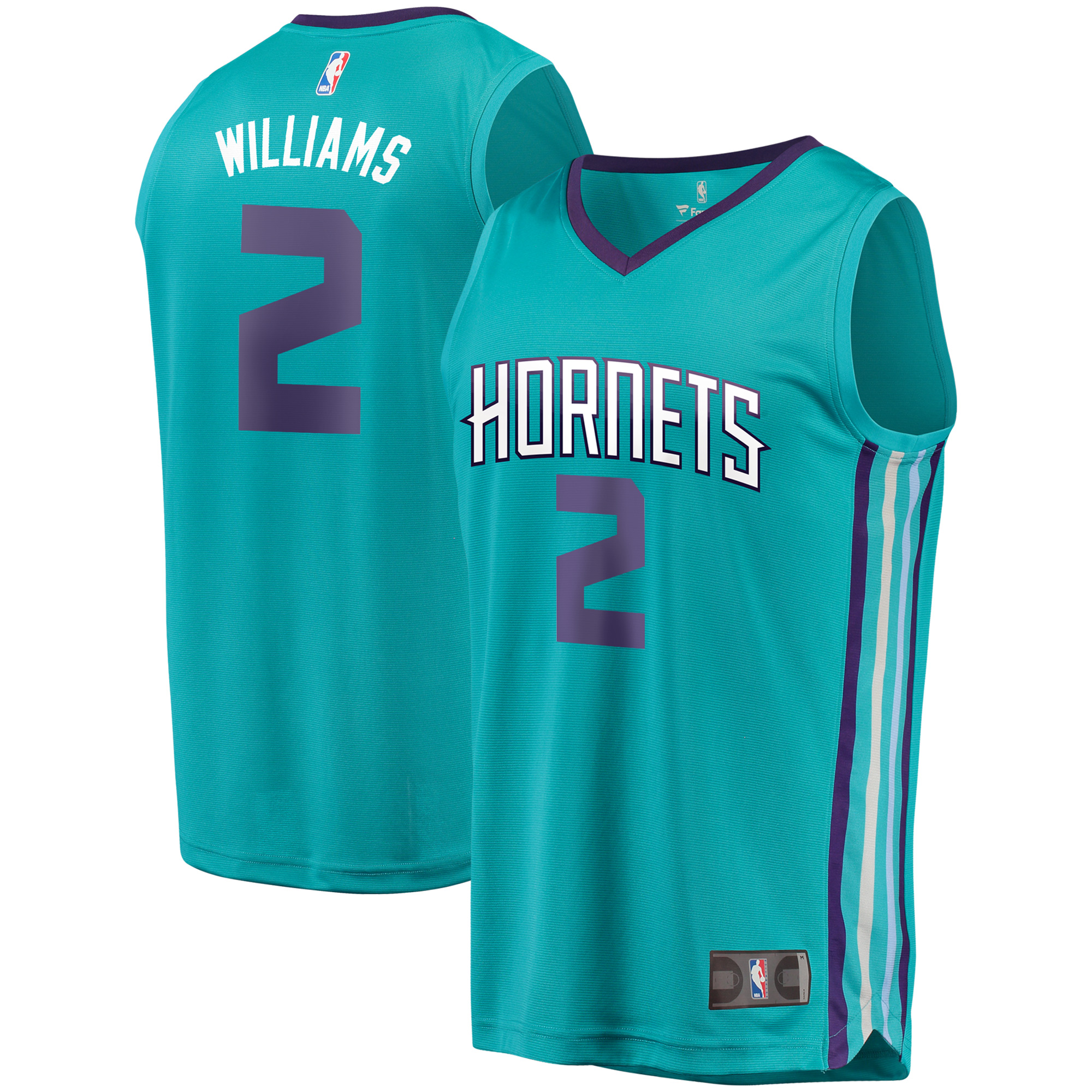 Marvin Williams Charlotte Hornets Fanatics Branded Fast Break Replica Player Jersey - Icon Edition - Teal