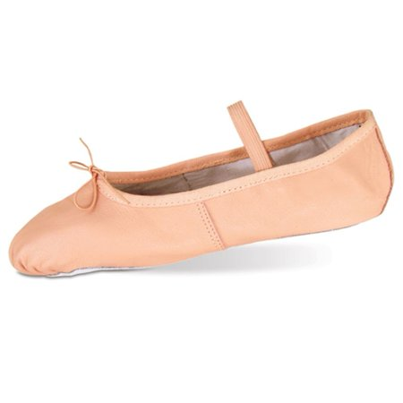 Danshuz Toddler Little Girls Pink Deluxe Leather Ballet Shoes Size