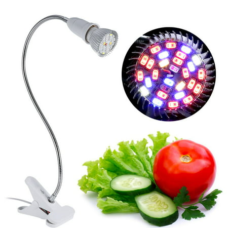 EECOO Led Grow Light,28W 28 LED Hydroponic Plant Grow Light Indoor Garden Home Flexible Desk Clamp Lamp New,Plant Grow Light ()