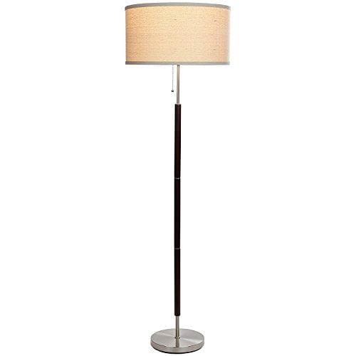 Brightech Carter Led Mid Century Modern Floor Lamp Contemporary Living Room Standing Light