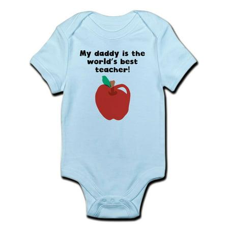 CafePress - My Daddy Is The Words Best Teacher Body Suit - Baby Light (Dark Cloud 2 Best Weapons)