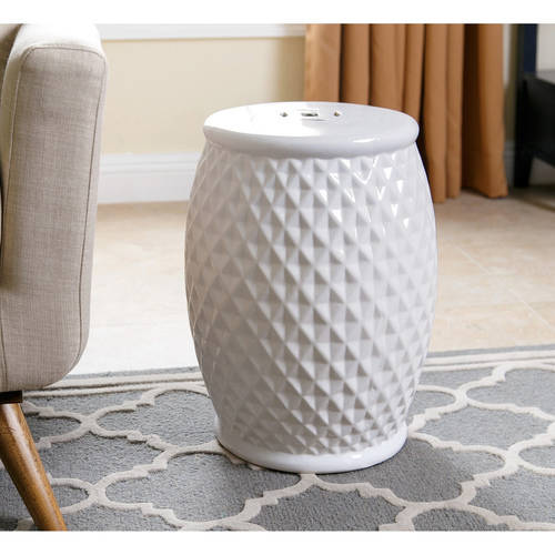Devon and Claire Paulo Tufted Ceramic Garden Stool, Multiple Colors