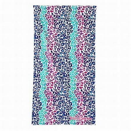 Juicy Velour Suit - Juicy Couture Rainbow Cheetah Print Turkish Cotton Velour Beach Towel 34x64