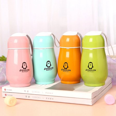penguin Insulated Sports Water Bottle Cute Animal Stainless Steel Vacuum Flask - image 3 de 4