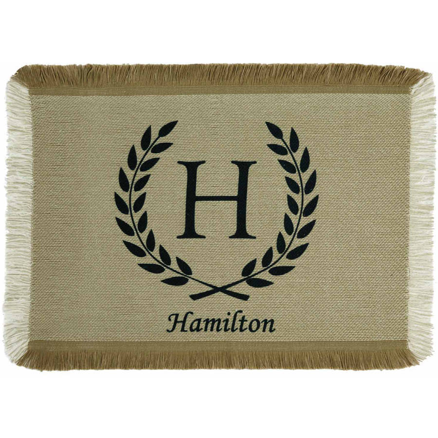 Personalized Rustic Country Placemat, Available in 4 Colors
